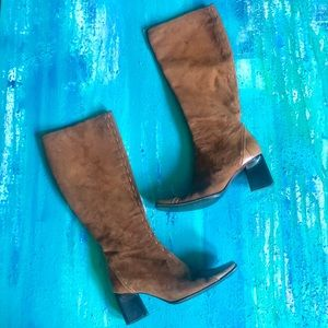 Italian Vintage Suede and Leather Boots